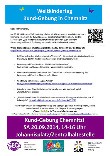 """Kund-Gebung"" in Chemnitz am 20.09.2014"